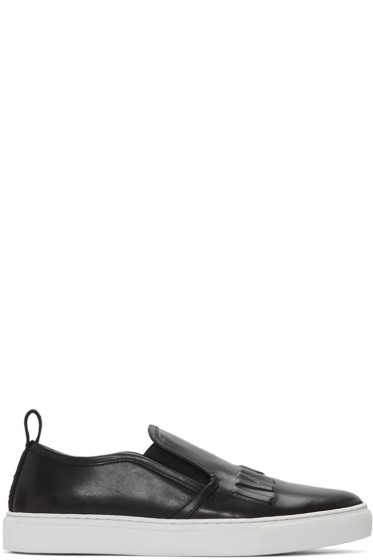 McQ Alexander Mcqueen - Black Chris Slip-On Sneakers