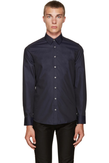 Tiger of Sweden - Navy Pin-Dot Shirt