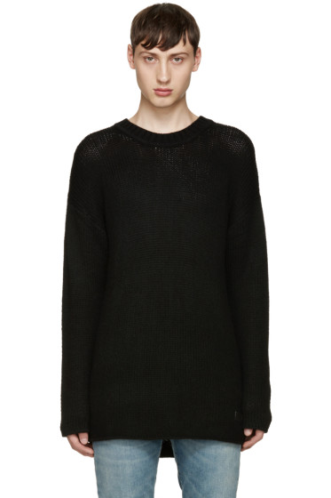 Tiger of Sweden - Black Wool Boxy Sweater