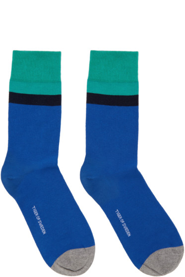 Tiger of Sweden - Blue & Green Emilio Socks