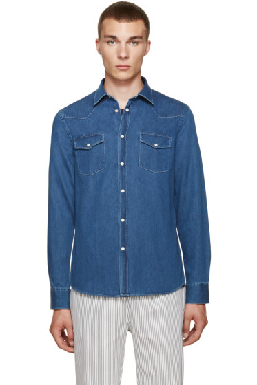 Acne Studios - Indigo Denim Ewing Shirt