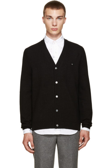 Acne Studios - Black Dasher Face Cardigan