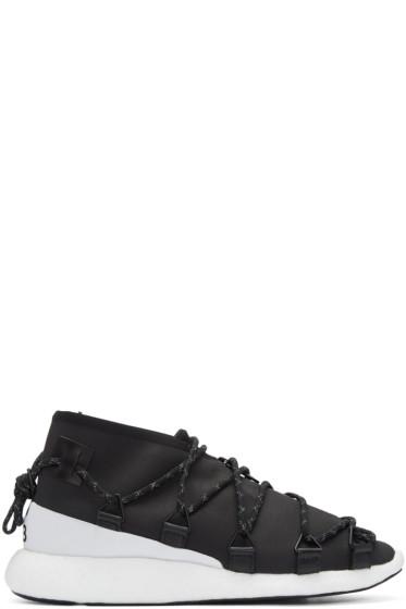 Y-3 - Black Cross Lace Run Sneakers