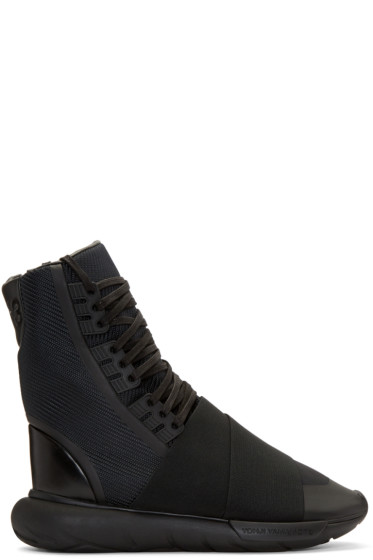Y-3 - Black Qasa Boot High-Top Sneakers