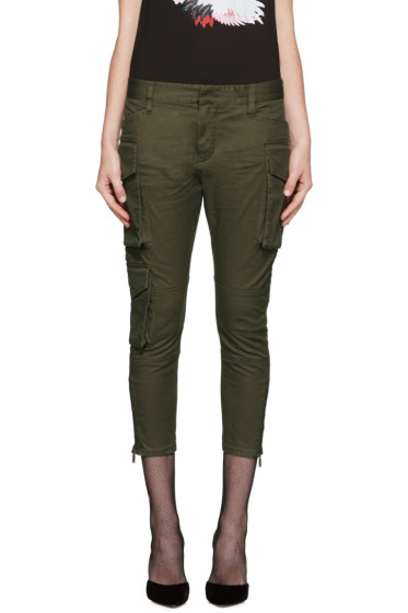Dsquared2 - Green Army Icon Cargo Trousers
