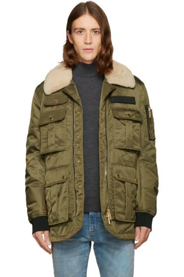 Dsquared2 - Green Multi-Pocket Puff Jacket