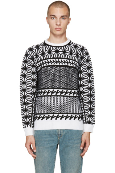 Dsquared2 - Black & White Jacquard Sweater