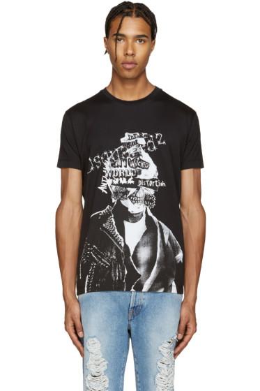 Dsquared2 - Black Punk Chic Dan T-Shirt
