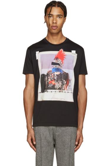 Dsquared2 - Black Picture Print Chic Dan T-Shirt