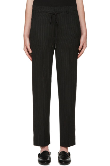 Helmut Lang - Black Pinstripe Trousers