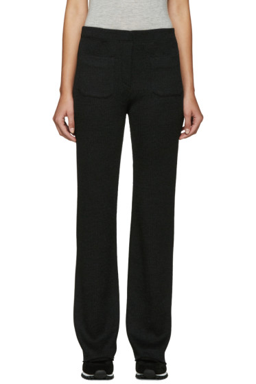 Helmut Lang - Grey Ribbed Wool Lounge Pants