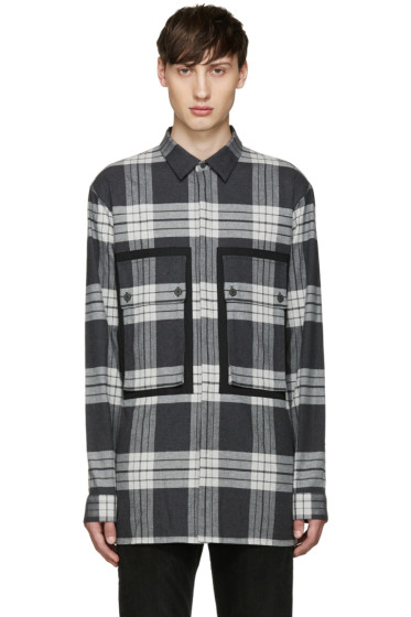 Helmut Lang - Grey Flannel Plaid Heritage Shirt