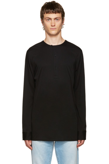 Helmut Lang - Black Cotton Henley