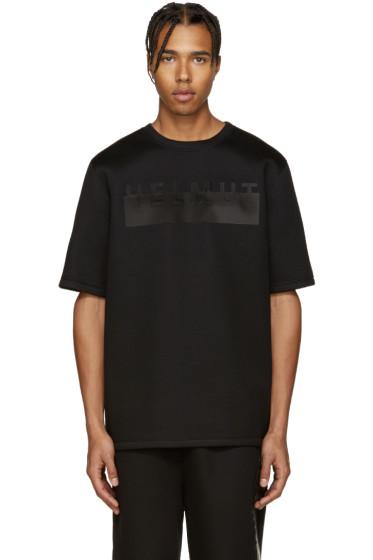 Helmut Lang - Black Oversized Logo T-Shirt