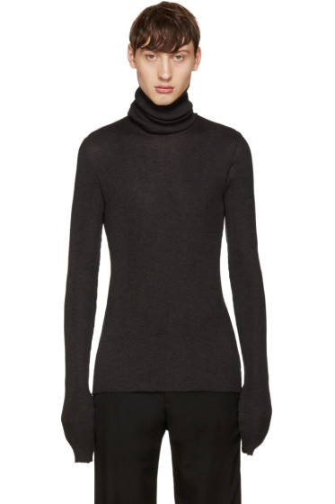 Maison Margiela - Black Oversized Turtleneck