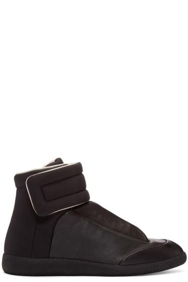 Maison Margiela - Black Leather & Nylon Future High-Top Sneakers