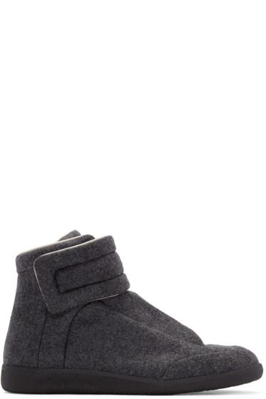 Maison Margiela - Grey Felt Future High-Top Sneakers