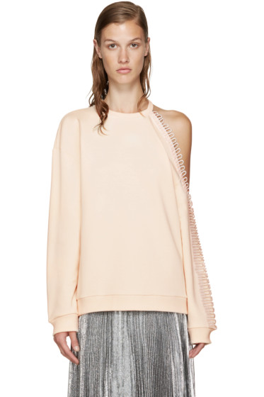 Christopher Kane - Pink Cut-Out & Loop Pullover