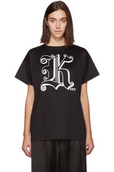 Christopher Kane - Black 'Kane' T-Shirt
