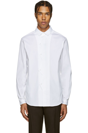 Christopher Kane - White Poplin ZigZag Shirt
