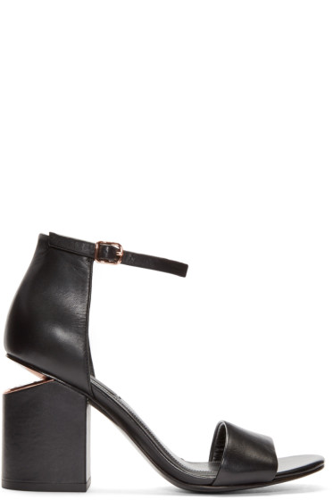 Alexander Wang - Black Abby Sandals