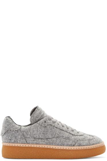Alexander Wang - Grey Felted Eden Sneakers