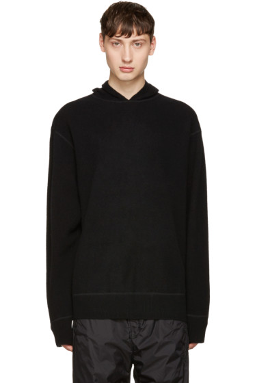 Alexander Wang - Black Boiled Wool Hoodie