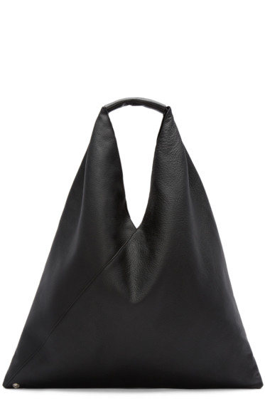 MM6 Maison Margiela - Black Leather Shopper Tote