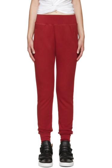 MM6 Maison Margiela - Red Basic Lounge Pants