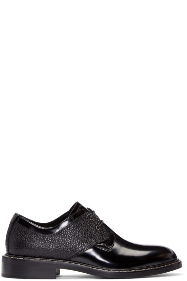 MM6 Maison Margiela - Black Patent Leather Derbys