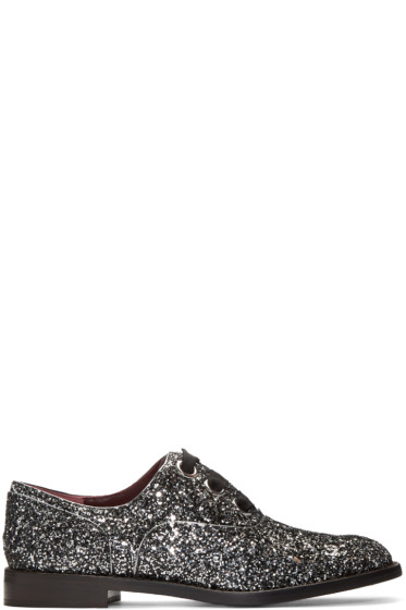 Marc Jacobs - Silver Glitter Helena Oxfords