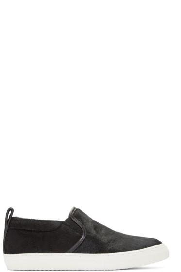 Marc Jacobs - Black Calf-Hair Mercer Sneakers