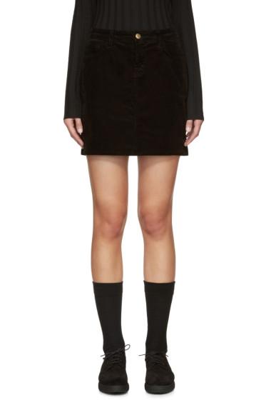J Brand - Black Corduroy Gwynne Miniskirt