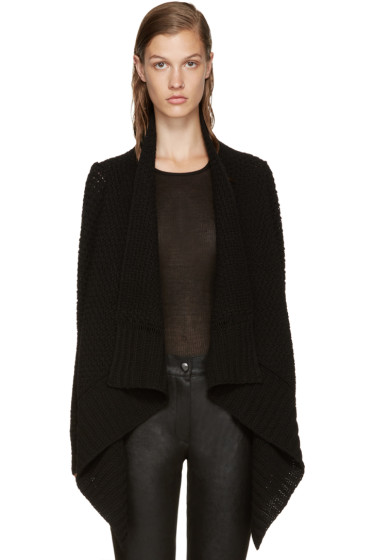 Rick Owens - Black Wool Cardigan