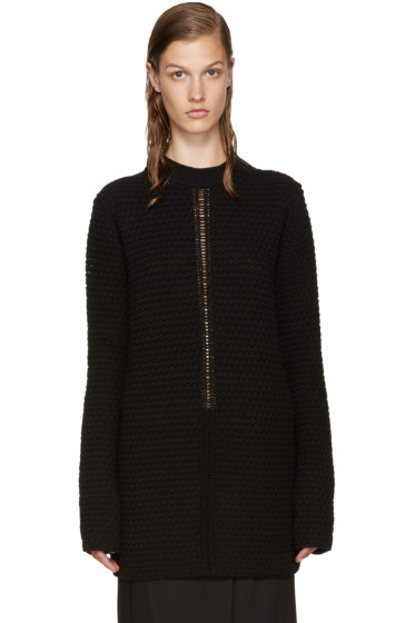 Rick Owens - Black Wool Sweater