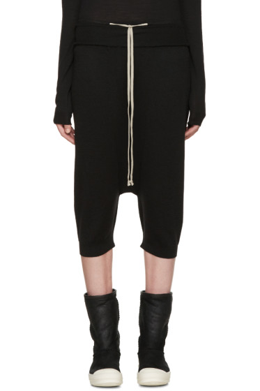 Rick Owens - Black Wool Pods Lounge Pants