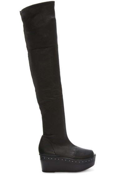 Rick Owens - Black Scuba Sabot Over-the-Knee Boots