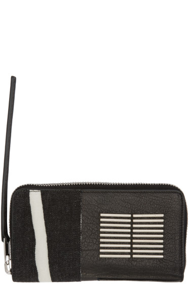 Rick Owens - Black Patent Continental Wallet