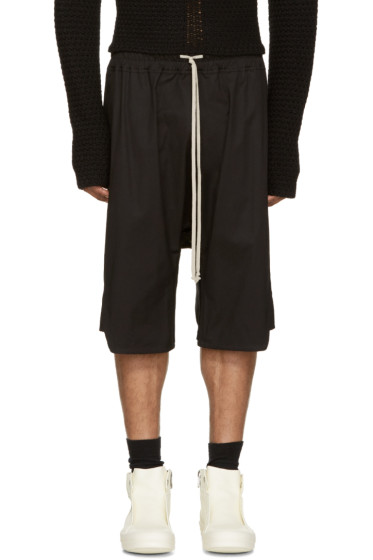 Rick Owens - Black Basket Swingers Shorts