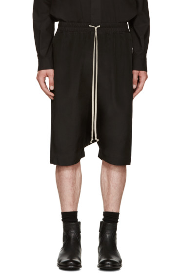Rick Owens - Black Silk Pods Shorts