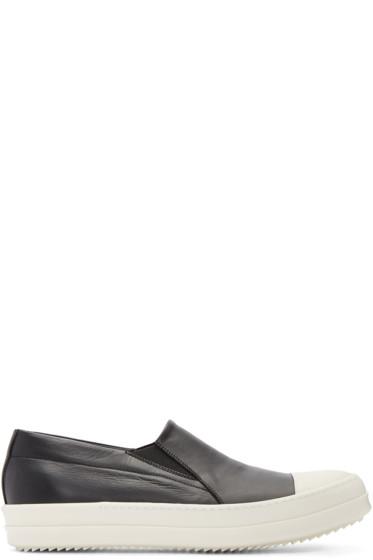 Rick Owens - Black Boat Slip-On Sneakers