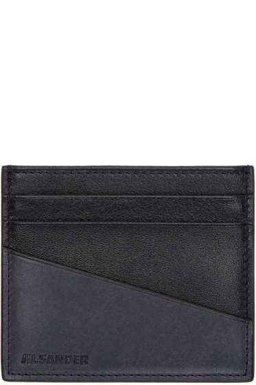 Jil Sander - Black & Grey Card Holder