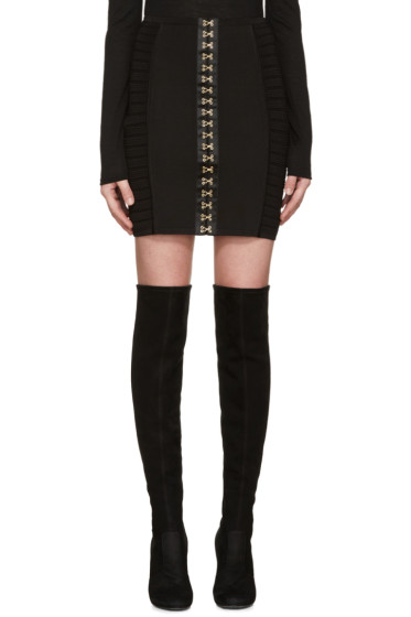 Balmain - Black Hook-Eye Miniskirt