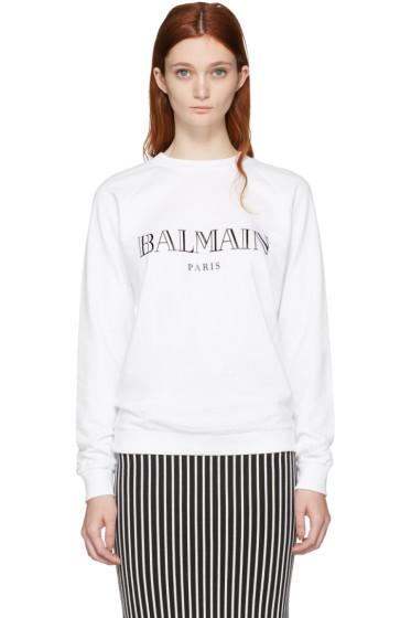 Balmain - White Logo Pullover