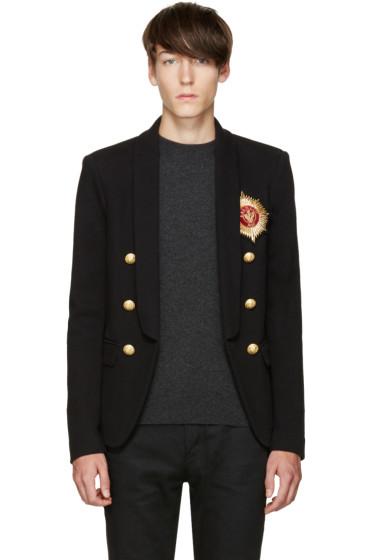Balmain - Black Embroidered Blazer