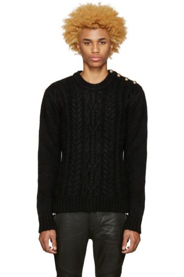 Balmain - Black Mohair Sweater
