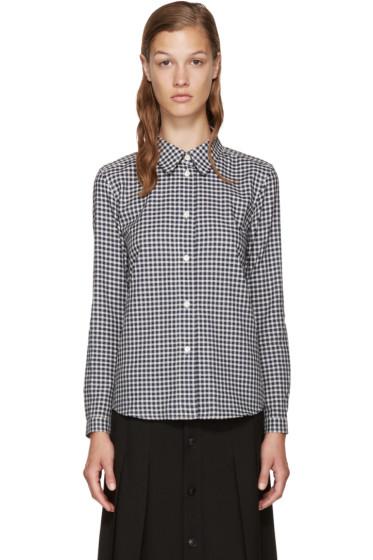 A.P.C. - Navy & White Check Shirt