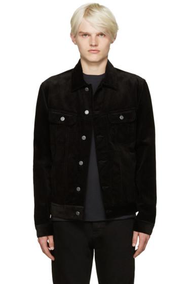 A.P.C. - Black Corduroy Highway Jacket