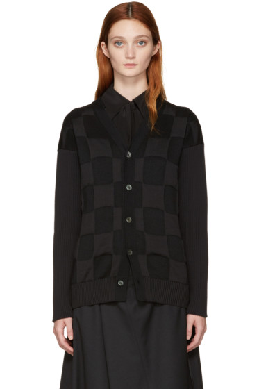 Junya Watanabe - Black Checkered Cardigan