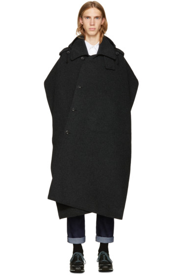 Junya Watanabe - Black Poncho Coat